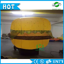 Guangzhou Wholesale Advertisement product large advertising hamburger models,inflatable bottle model for sale