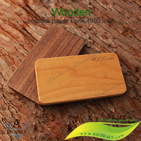 High capacity wooden power banks 4000mah with mirror easy carrying portable mobile phone charger battery