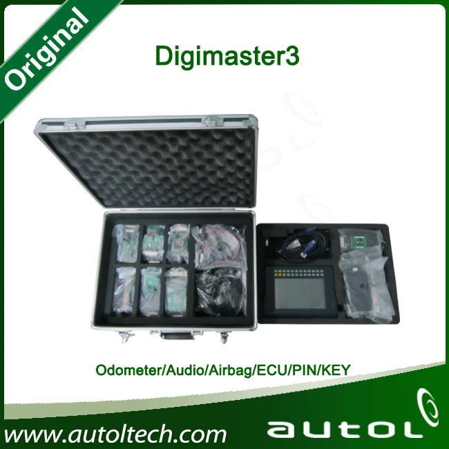 Professional Mileage Odometer Correction DigiMaster iii 3 Key Programmer,Immobilizer,Airbag Reset Tool Update Online