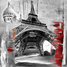 Fuzhou supplier Famous landscape paintings art in Eiffel Tower