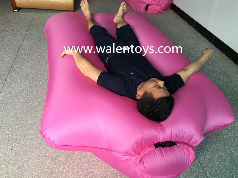 2017 new design Inflatable wind bag sofa lounger,single mouth,fast inflated air