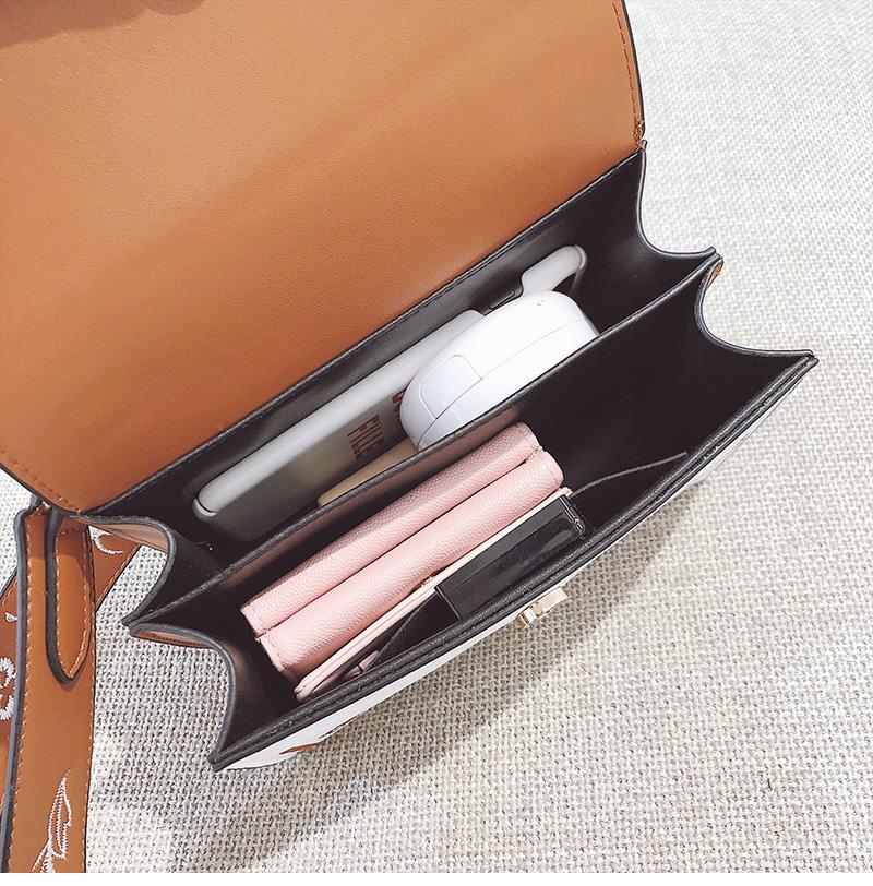 Toposhine Fashion Women Bag Panelled Vintage Flower Girls Bags for Girls Black PU Leather Women Messenger Bags Drop Shipping 20