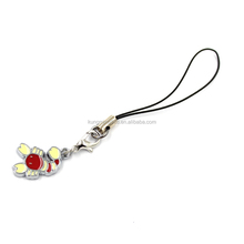 2.1CM Lovely Lobster With Enamel Mobile Phone Charm Wholesale