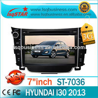 Factory LSQ Star 7inch Mp3 Player For Hyundai I30 With Gps Radio Tv Bluetooth 6cdc Canbus Dual Zone 3g Rds