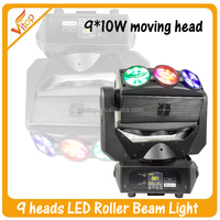 Dj Party Colorful 9pcs 10W Auto Control Unlimited Roller 360 Beam Light 4-In-1 Led Moving Head For Dj Night Club
