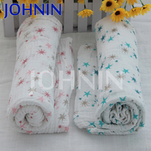 Wholesale soft textile 47*47'' breathable muslin baby heated swaddle blanket
