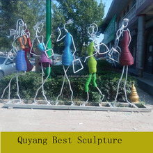 Popular Decoration Stainless Steel Female Figure Abstract Statue Sculpture