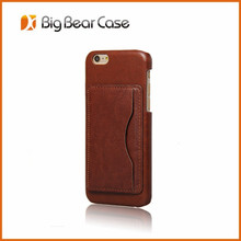 2017 Latest ultra slim mobile phone leather case with kickstand for iPhone 6/6s