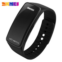 5ATM Waterproof digital led touch screen wristband watch custom