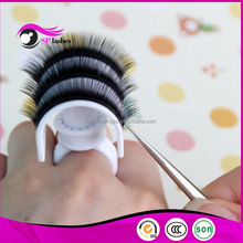 Hand Made Type and plastic,u-bend lash holder Material U-bend glue ring volume lashes extensions