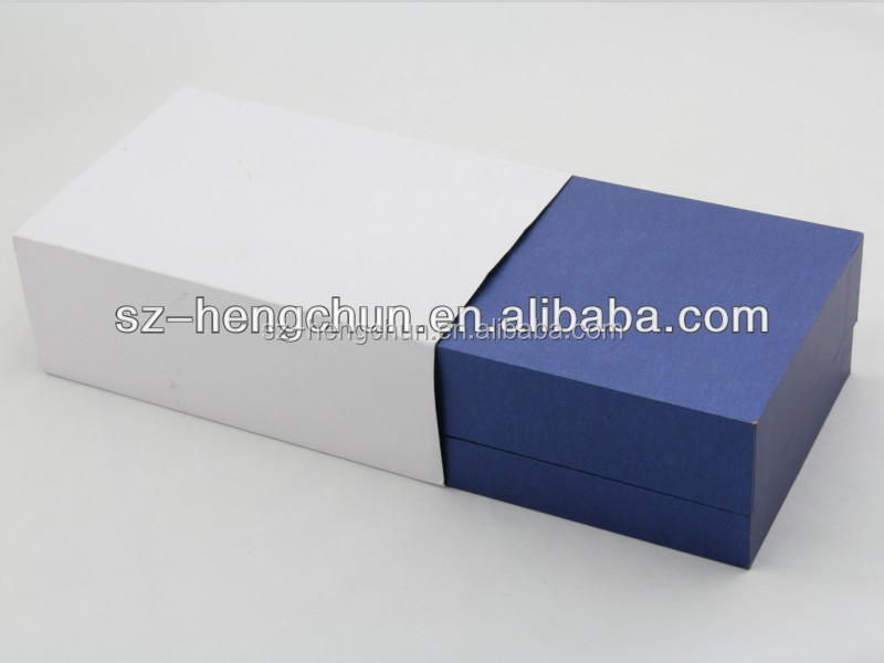 Customize royal blue lid and base cardboard packaging gift box