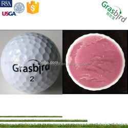 with packaging speed ball golf hard rubber ball 2 piece match ball