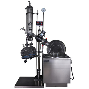 Pilot Scale 200L Rotary Evaporator and glass reactor with glass condenser