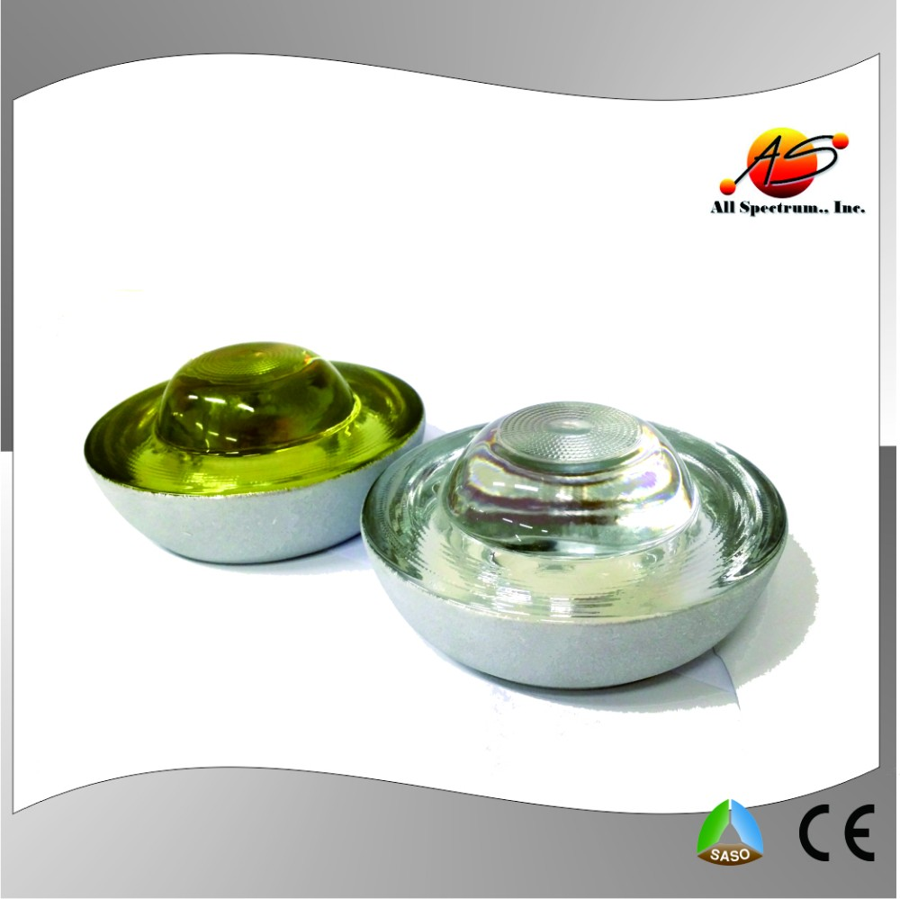 Reflective glass chrysoberyl road marker reflectors embedded raised pavement Cat Eye road stud