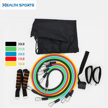 Crossfit box exercise fitness 11 pcs resistance band set
