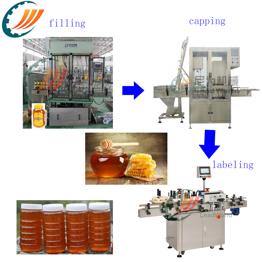 Automatic Grade Honey Filling Machine Piston Filler