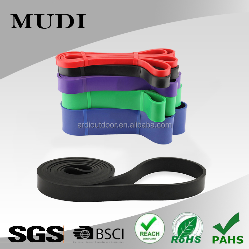 "41"" Multi-Layered Physical Therapy Resistance Bands 100% Premium Latex Continuous Loop PT Bands for Fitness Stretching Exercise"