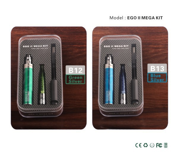 2015 electric cigarette ego II vaporizer Kgo 1 week kgo mega 2200mah battery kit