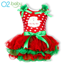 Discount price bulk winter sleeveless ruffle children girls christmas ballet dress, kids christmas party dresses T00077