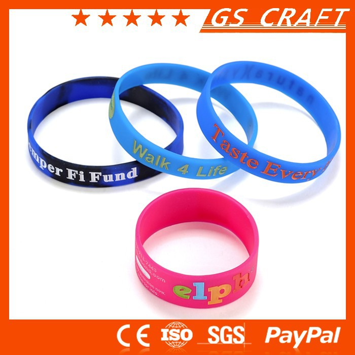 OEM Avaliable manufacturer supply rubber silicone bracelets with sayings