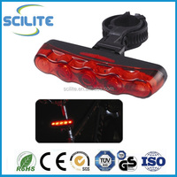 5 led Bicycle Taillight Cycling Rear Light Mountain Bike Flashlight Road Bike Taillight Fixed Gear Light Accessories