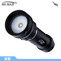 2017 HI-MAX X8 Diving Powerful Equipment Waterproof Led Light