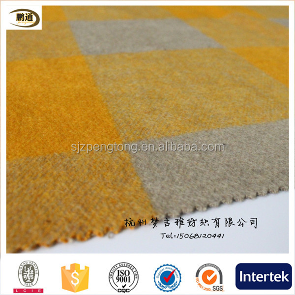 high quality wool checks fabric for winter checks fabric coat designs for men