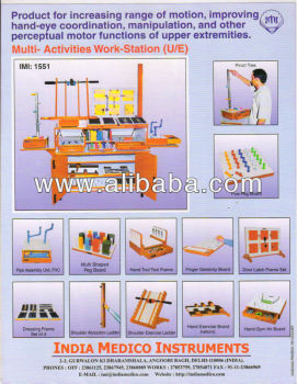 MULTI ACTIVITIES WORK STATION Upper Extremities Physiotherapy Equipment Occupational Therapy product Physical Therapy