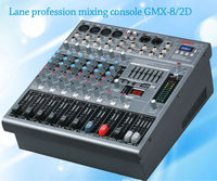 Lane the latest Amplifier mixer broadcast mixing console GMX-8/2D 8 channels professional with USB SD MP3 avaiaudio dj mixer