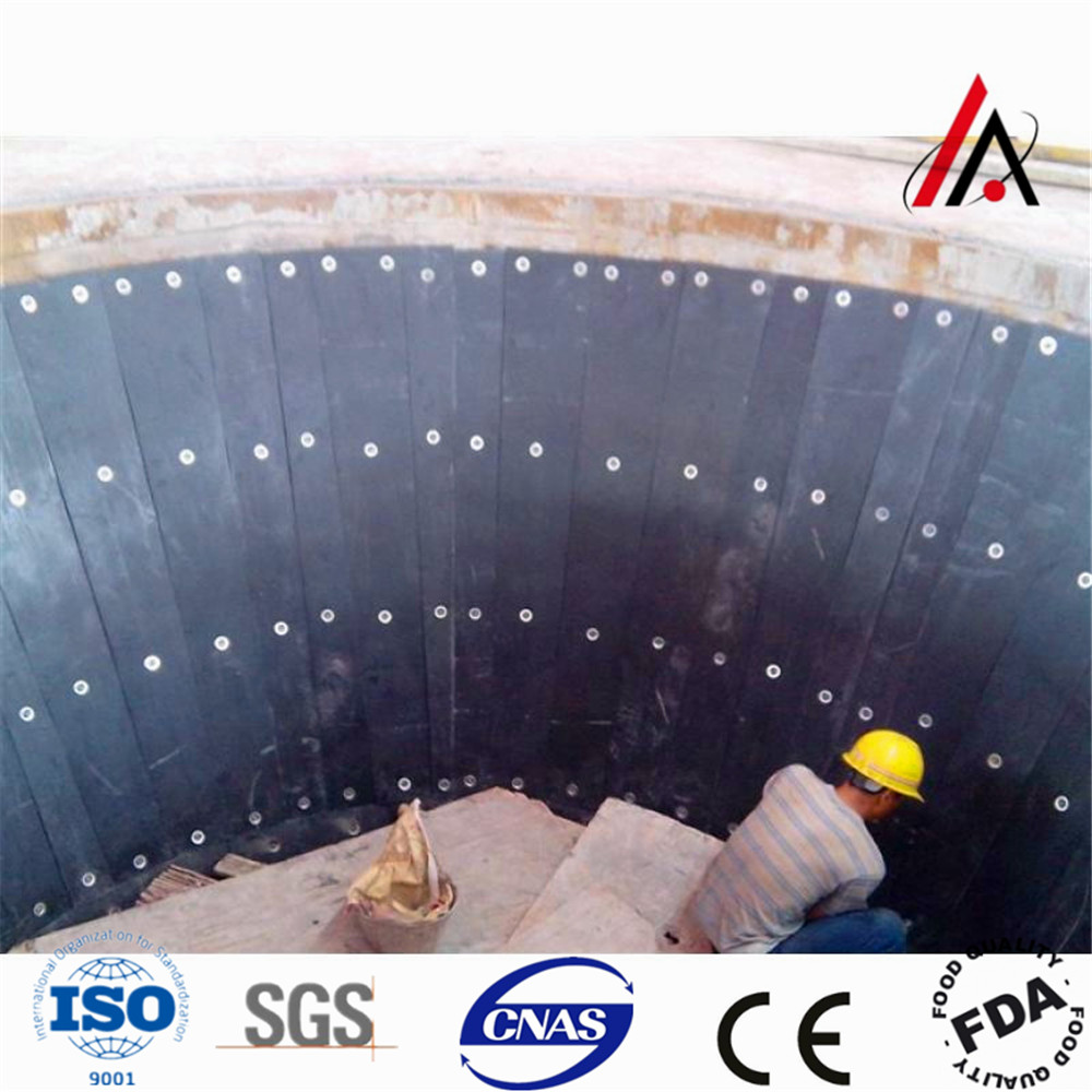 Uhmwpe chuted bunker bed liner
