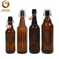 750ml swing top glass beer bottle with flip top (CYJ-0546)