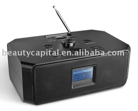 BC-301iWF Wi-Fi Radio, i-Docking, MP3, FM, Recording, USB, SD-Card, AUX