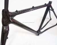54cm 12k carbon road frame disc brake cycylocross bike frame bb86