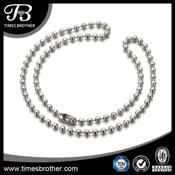 Wholesale men's stainless steel ball chain necklaces,steel ball chain bola 4.5mm,stainless steel bead chain
