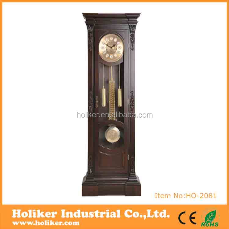 Antique design floor standing grandfather clock big size for home decoration