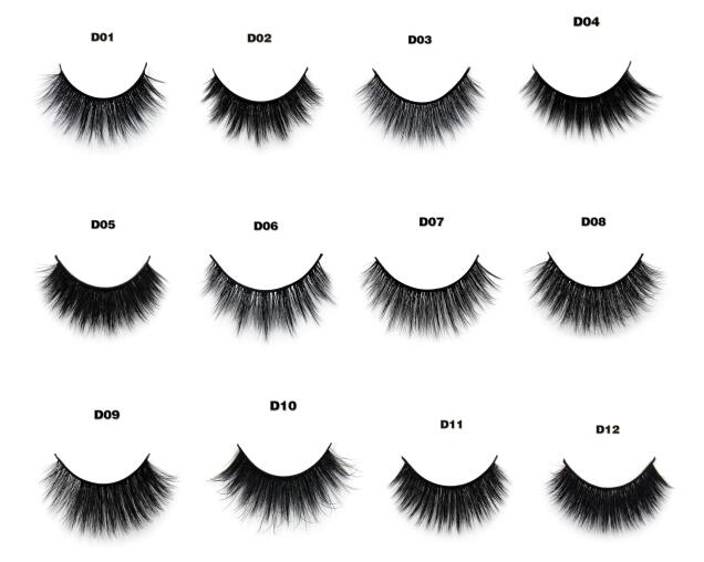 Cruelty free False Eyelashes Handmade 3D Faux Mink Lashes with private label