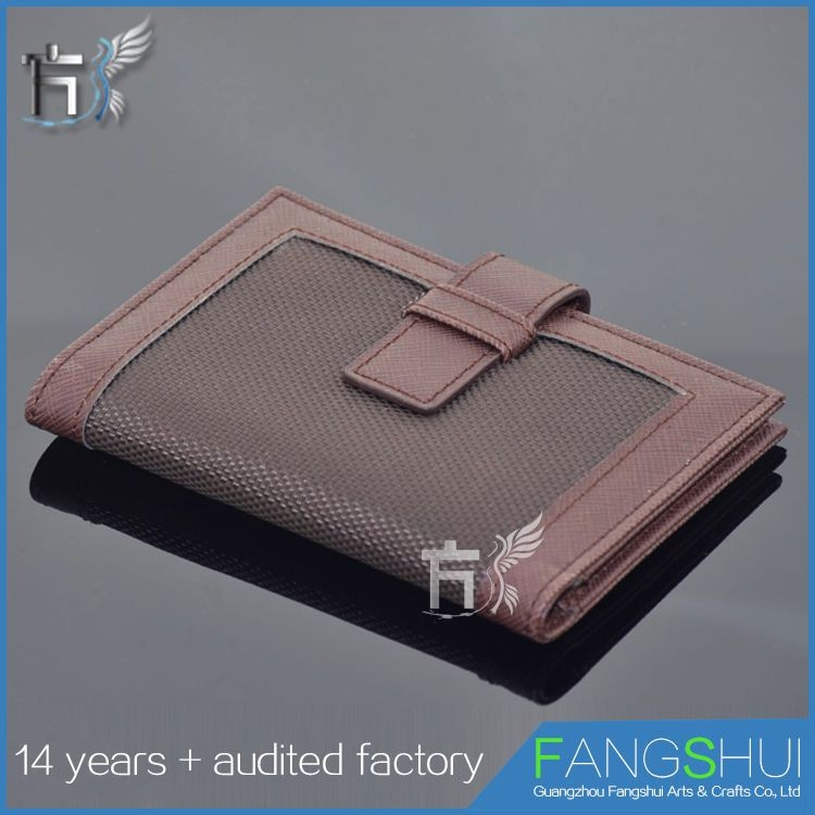 Top quality embossed logo men long wallet leather