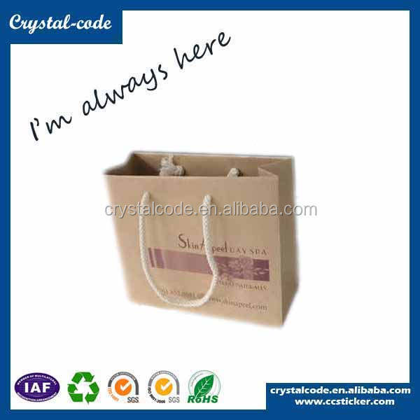 Exclusive greaseproof biodegradable slogan paper bag for fried fooding