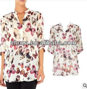 C61018A 2014 TOP NEWEST FASHION WOMEN'S BLOUSE