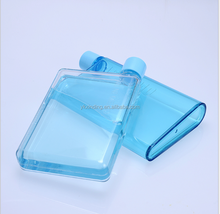 flask shaped plastic water bottle
