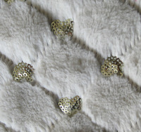 Sequin embroidery polyester fleece fabric for women's wear/bags