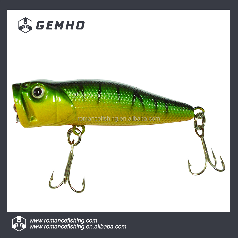 Saltwater Plastic Hard Bodied Popper Fishing Lure with High Quality Hook
