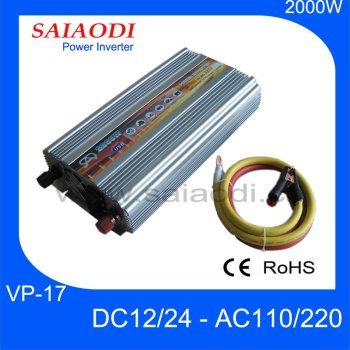 2000W Inverter 12V 220V, 24V 230V Dc to Ac power Inverter 2000watt