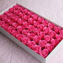 50pcs Artificial Soap Carved Rose Heads With Gift Box For Romantic Valentine's day