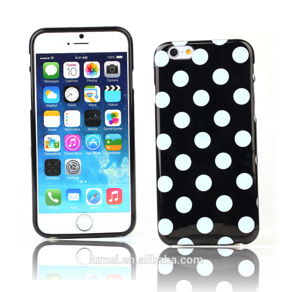 2016 New Product Dots TPU Soft Back Case For Iphone 6, For Apple Iphone 6 Cute Cellphone Cover Case