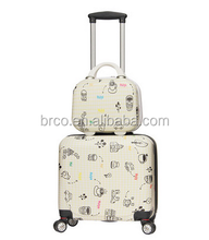 hard pc luggage case with plane silent wheels