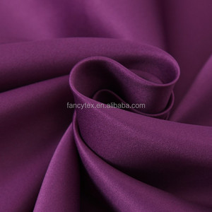 polyester dull satin fabric heavy satin fabric 50*75D spandex polyestin P/D thick satin fabric for dress pajamas