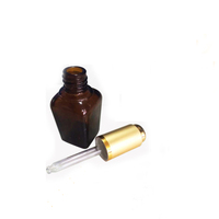10 ml 30ml frosted amber black square glass dropper bottle