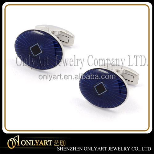 blue background and black colour cuff links special cufflinks aigner cufflink