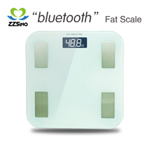 zzsino Bluetooth Fat scales body scale Android/ iOS Weighing Free App Wireless Smart Body Fat Scale